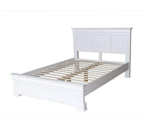 elegance white king size bed frame
