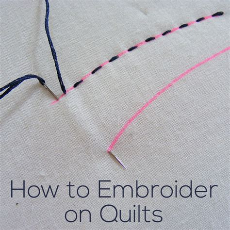 how to do embroidery with how do i embroider on quilts shiny happy world