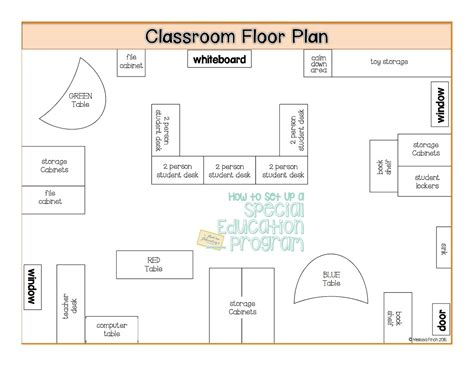 classroom floor plan quot how to set up a special education program quot floor plans