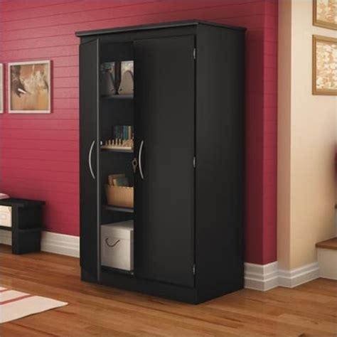 back of door storage cabinet south shore park 2 door storage cabinet in solid black