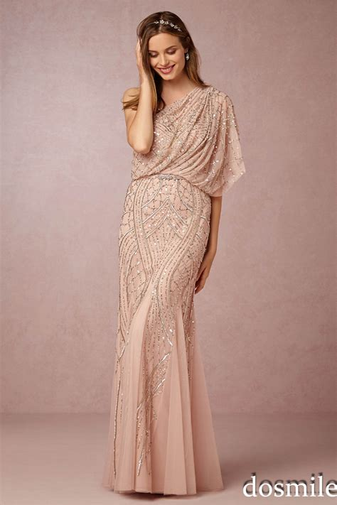 beaded bridesmaid dresses 2016 gorgeous chagne gold sequin bridesmaid dresses one