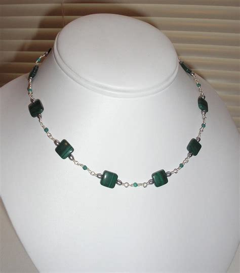 beaded necklaces ideas jewelry malachite bead necklace