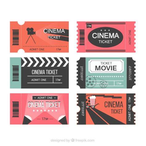 entradas cine online modernas entradas de cine descargar vectores gratis