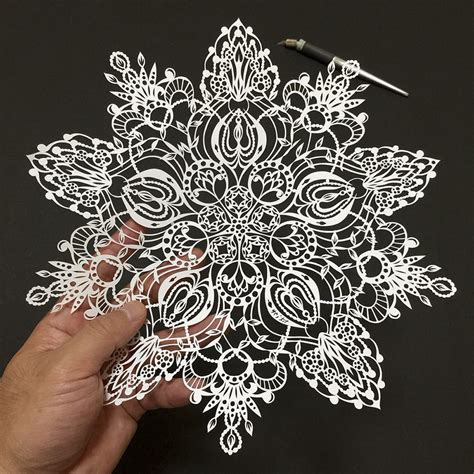 paper cutting japanese artist cuts insanely detailed paper bored panda