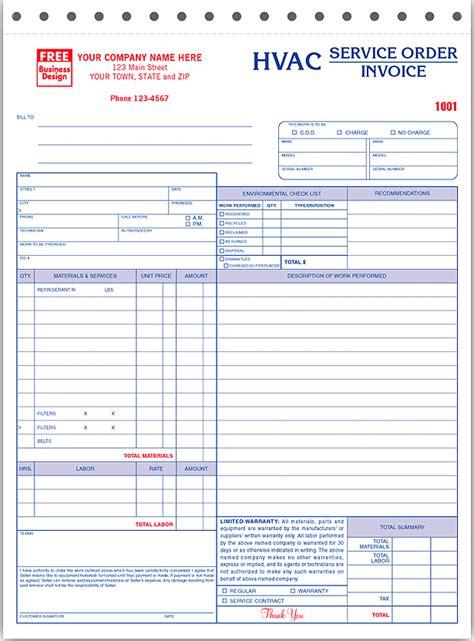 quot hvac service order invoice repair amp work order invoices