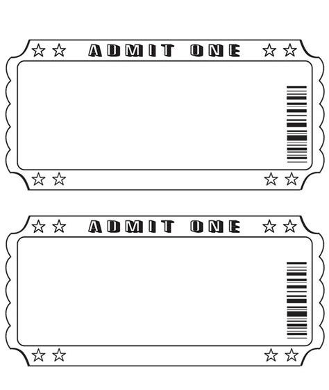 free blank event amp raffle ticket template word calendar