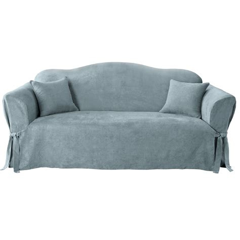 suede sofa slipcover sure fit soft suede sofa slipcover