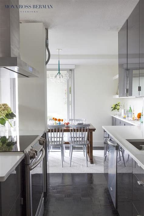 flat front kitchen cabinets gray lacquered flat front kitchen cabinets