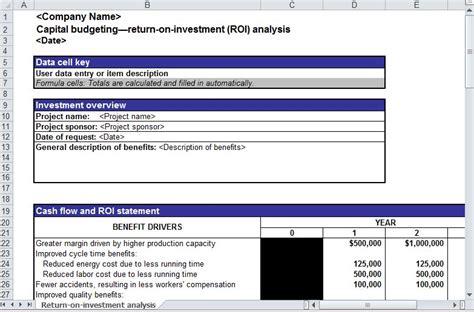 roi analysis roi analysis template roi analysis