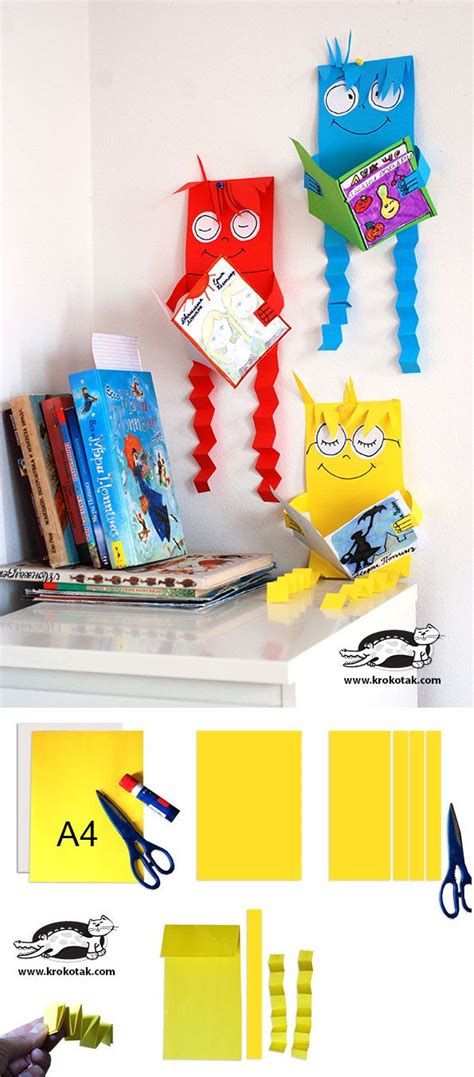 library crafts for reading creatures great craft project for library and