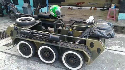 Modifikasi Vespa Tank by Modifikasi Vespa Model Tank Tempur Rsj Kediri