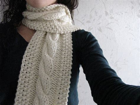 Cable Knit Scarf Pattern A Knitting