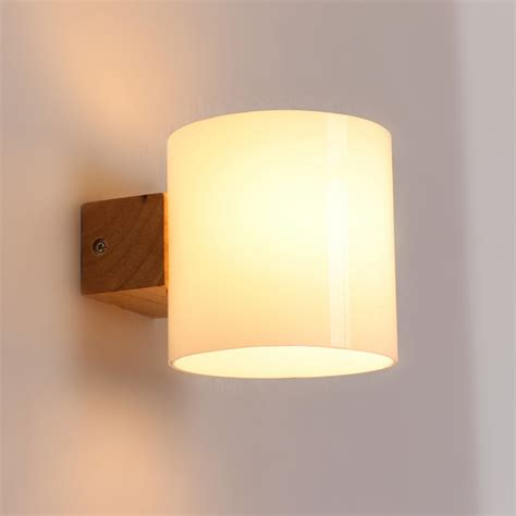 bedroom wall sconces lighting aliexpress buy simple modern solid wood sconce led