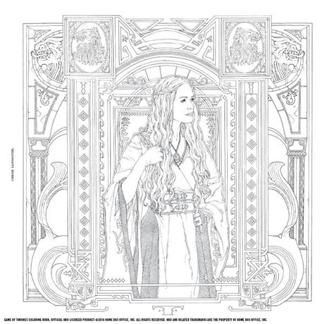 thrones book pictures of thrones a new coloring book let s you color in