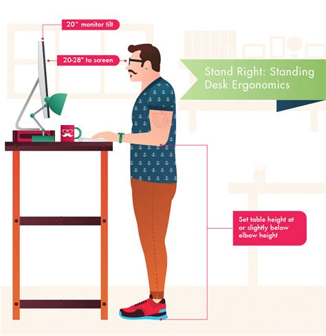 standing desk height ergonomics stand right standing desk ergonomics furniture