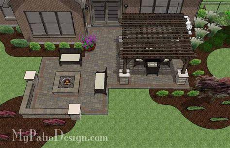 patio with pit designs corner patio design for 6 quot l quot shaped homes