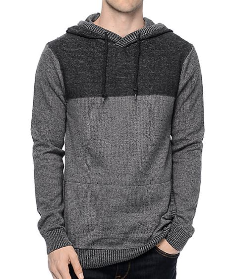 knitted hoodies dravus roald grey charcoal knit hoodie
