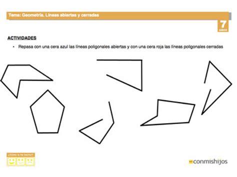preguntas abiertas y cerradas de matematicas l 237 neas abiertas y cerradas ficha de geometr 237 a para ni 241 os