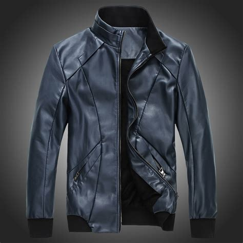 cool leather jackets for the newly popular slim solid zipper cool s synthetic leather jacket jpg