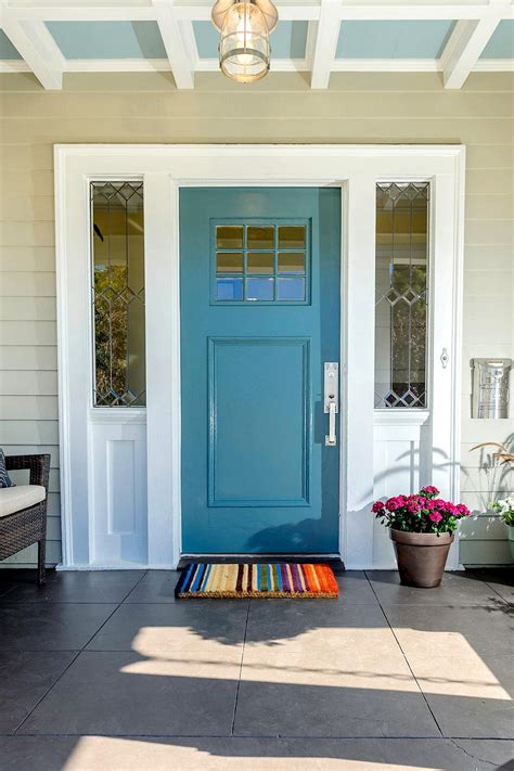 blue door blue front door for a warm and friendly house