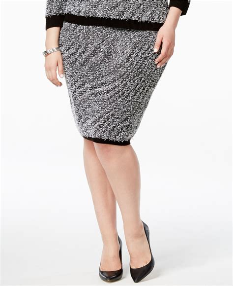 pull on knit pencil skirt calvin klein plus size eyelash sweater knit pull on pencil