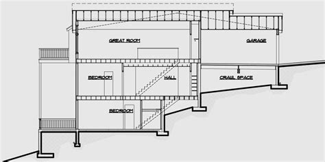 house plans for sloping lots multi family sloping lot plans hillside plans daylight