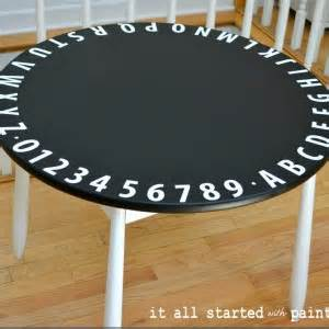chalkboard paint table furniture it all started with paint