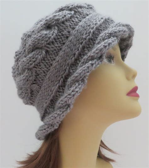 knit hat with brim pattern free hats with bills and brims knitting patterns in the loop