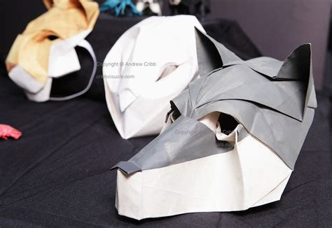 how to make origami mask origami wolf mask by chad killeen papercraft