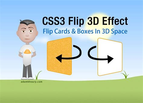 how to make flip card css3 flip 3d animation for boxes and cards html5 tutorial
