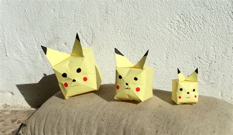 pokémon origami easy origami step by step images images