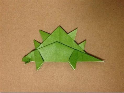 origami stegosaurus 恐竜折り紙 ステゴザウルスの折り方 origami dinosaur quot stegosaurus