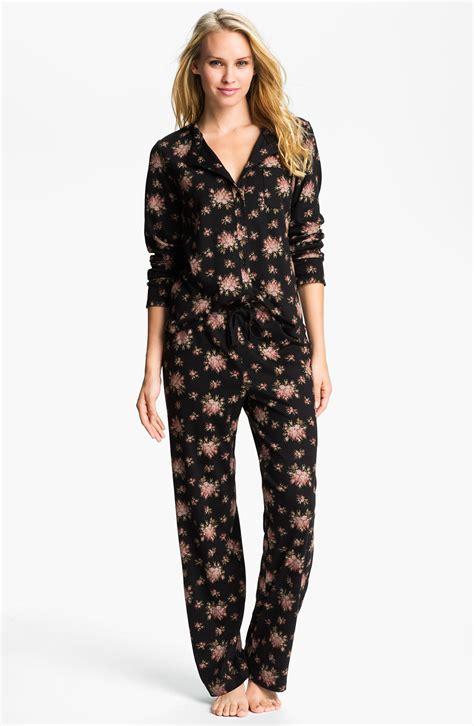 knit pajamas carole hochman designs interlock knit pajamas in black