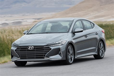 Hyundai Elantra 2019 by 2019 Hyundai Elantra Facelift Rendered Autoevolution