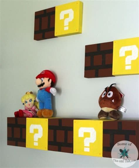 mario crafts for diy mario shelves nerdy crafts some of this and that