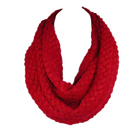 large knit scarf womens large knit infinity loop scarf by ctm 174 winter