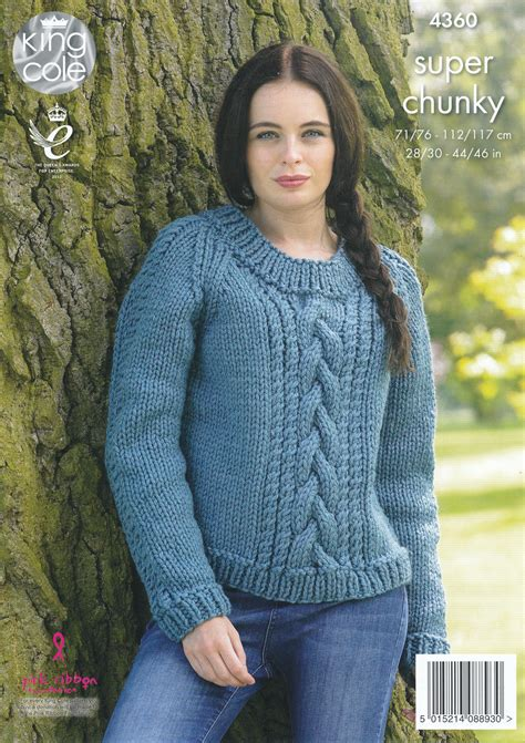 knitting patterns for jerseys chunky knitting pattern king cole cable knit
