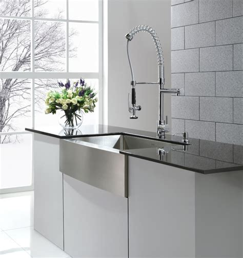 farmhouse style sink kitchen kraus khf200 36 farmhouse kitchen sink and kpf1602