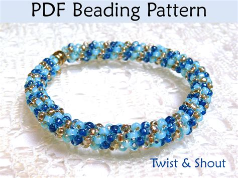 beading patterns pdf beading tutorial pattern bracelet necklace tubular