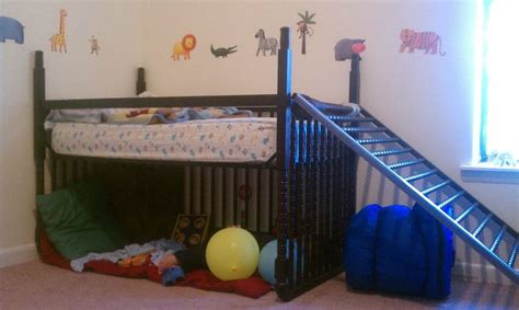 how to turn my crib into a toddler bed i turned my s crib into a toddler loft bed with only