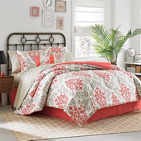 coral comforter sets buy 8 california king comforter set in coral