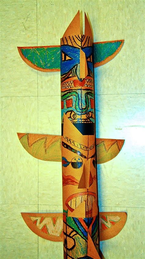 totem pole craft for 1000 ideas about totem pole craft on totem