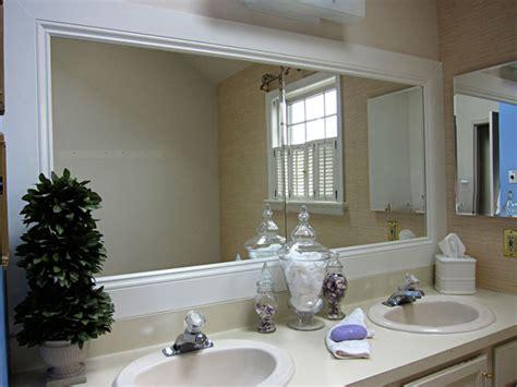 framing your bathroom mirror how to frame a bathroom mirror