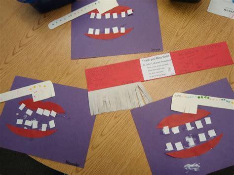 health crafts for dental health ziek zijn knutselen