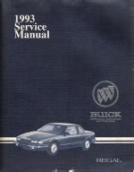 service and repair manuals 1986 buick regal auto manual 1993 buick regal factory service manual 2 volume set