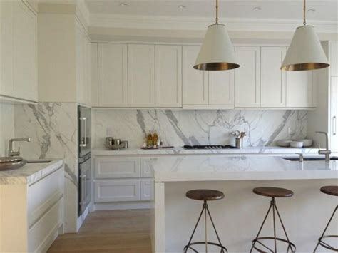 white shaker kitchen cabinets for modern home home white shaker profile kitchen with calacatta marble