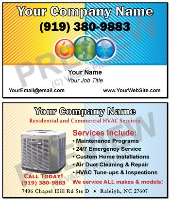 how to make air card free design fast shipping on hvac business cards and more
