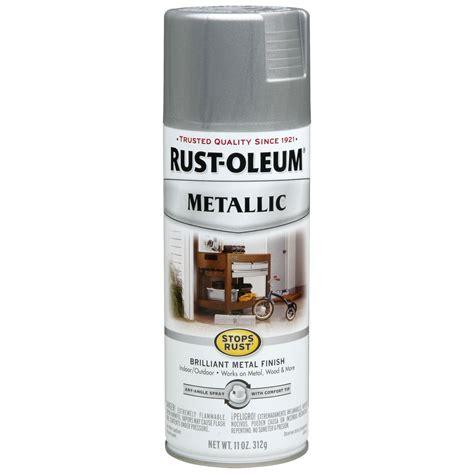 spray painting rust rust oleum spray paint silver metallic 7271830 tools