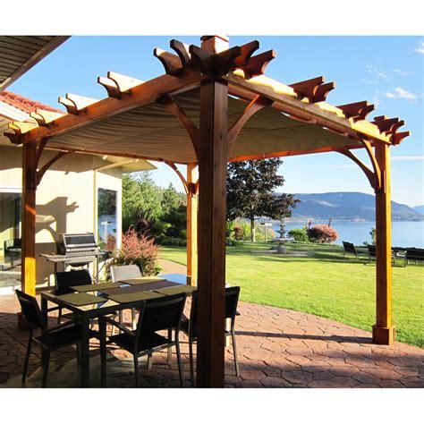 lowes pergola canopy outdoor living today bz810wrc 8 ft x 10 ft pergola
