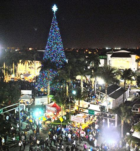 delray tree lighting the holidays thanksgiving hanukah and new